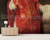 St. Ignatius of Loyola (1491-1556) Founder of the Jesuits (oil on canvas) wallpaper mural living room preview