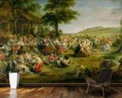 The Kermesse, c.1635-38 (oil on panel) mural wallpaper kitchen preview