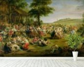 The Kermesse, c.1635-38 (oil on panel) mural wallpaper in-room view