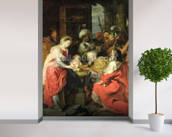 Adoration of the Magi, 1626-29 (oil canvas) wall mural room setting