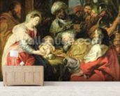 Adoration of the Magi, 1626-29 (oil canvas) wall mural living room preview