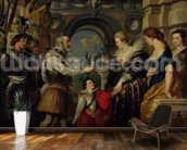 The Medici Cycle: Henri IV (1553-1610) leaving for the war in Germany and bestowing the government of his kingdom to Marie de Medici (1573-1642) 20th March 1610, 1621-25 (oil on canvas) wallpaper mural kitchen preview