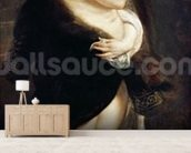 Helena Fourment in a Fur Wrap, 1636-38 wall mural living room preview