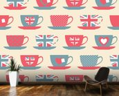 British Teatime mural wallpaper kitchen preview