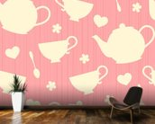 Tea Time - Pink wall mural kitchen preview