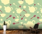 Tea time mural wallpaper kitchen preview