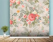 Roses Pattern wall mural in-room view