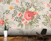 Roses Pattern wall mural kitchen preview