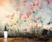 Cosmos Flower with Vintage Tones wallpaper mural kitchen preview
