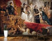 The Arrival of Marie de Medici in Marseilles, 3rd November 1600, 1621-25 (oil on canvas) wallpaper mural kitchen preview