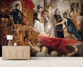 The Arrival of Marie de Medici in Marseilles, 3rd November 1600, 1621-25 (oil on canvas) wallpaper mural living room preview