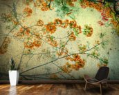 Vintage Flowers wallpaper mural kitchen preview