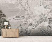 Chinese Landscape mural wallpaper living room preview