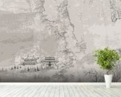 Chinese Landscape mural wallpaper in-room view