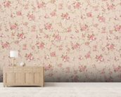Tapestry Rose Floral wall mural living room preview