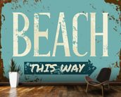 Beach Tin Sign wall mural kitchen preview