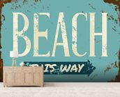 Beach Tin Sign wall mural living room preview