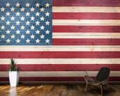 Stars and Stripes on Wood wallpaper mural kitchen preview