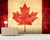 Canadian Flag wallpaper mural living room preview