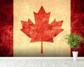 Canadian Flag wallpaper mural in-room view