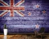 New Zealand Flag on Wood wall mural kitchen preview