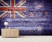 New Zealand Flag on Wood wall mural living room preview