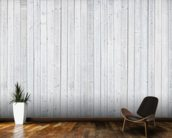 White Wood Wall wallpaper mural kitchen preview