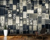 Music Speakers Wall Monochrome wall mural kitchen preview