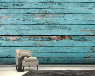 Old Painted Boards Wallpaper Wall Murals
