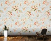 Rose Floral Tapestry wallpaper mural kitchen preview