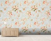 Rose Floral Tapestry wallpaper mural living room preview