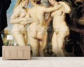 The Three Graces, c.1636-39 (oil on canvas) mural wallpaper living room preview