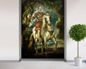 Equestrian portrait of the Duke of Lerma (1553-1625) 1603 (oil on canvas) wallpaper mural in-room view