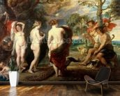 The Judgement of Paris, c.1632-35 (oil on panel) mural wallpaper kitchen preview