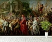 A Roman Triumph, c.1630 (oil on canvas laid down on wood) wall mural in-room view
