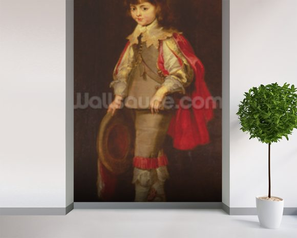 Portrait of the artists son (oil on canvas) wallpaper mural room setting
