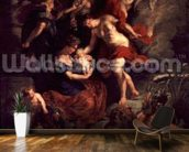 The Medici Cycle: The Birth of Marie de Medici (1573-1647) 26th April 1573, 1621-25 (oil on canvas) wall mural kitchen preview