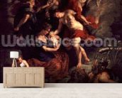 The Medici Cycle: The Birth of Marie de Medici (1573-1647) 26th April 1573, 1621-25 (oil on canvas) wall mural living room preview
