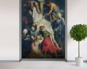 Descent from the Cross, 1617 (oil on canvas) mural wallpaper in-room view