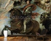Portrait of Philip IV (1605-65) 1645 (oil on canvas) mural wallpaper kitchen preview