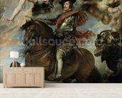 Portrait of Philip IV (1605-65) 1645 (oil on canvas) mural wallpaper living room preview