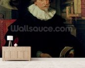Portrait of Ludovicus Nonnius (c.1553-1645/6) c.1627 (oil on panel) wallpaper mural living room preview