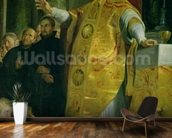 The Vision of St. Ignatius of Loyola (c.1491-1556) detail of the saint, 1617-18 (oil on canvas) wallpaper mural kitchen preview