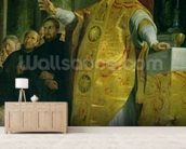 The Vision of St. Ignatius of Loyola (c.1491-1556) detail of the saint, 1617-18 (oil on canvas) wallpaper mural living room preview