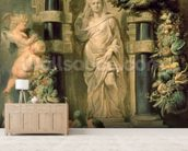 Statue of Ceres, c.1615 (oil on panel) mural wallpaper living room preview