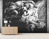 Religion Crowned by Genius, study for The Apotheosis of James I, c.1629-34 (drawing) (b/w photo) wallpaper mural living room preview