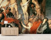 Christ Between the Two Thieves, 1620 (oil on panel) wallpaper mural living room preview