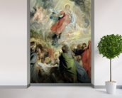 The Assumption of the Virgin Mary (oil on panel) wallpaper mural in-room view