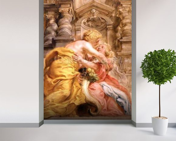 Peace Embracing Plenty, 1633-34 (oil on panel) wall mural room setting
