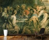 The Last Supper, c.1630-31 (oil on panel) mural wallpaper kitchen preview